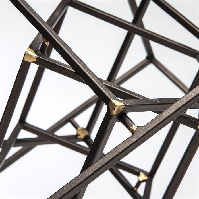 deko objekt cube 3d w rfel konstruktion aus eisen ebay. Black Bedroom Furniture Sets. Home Design Ideas