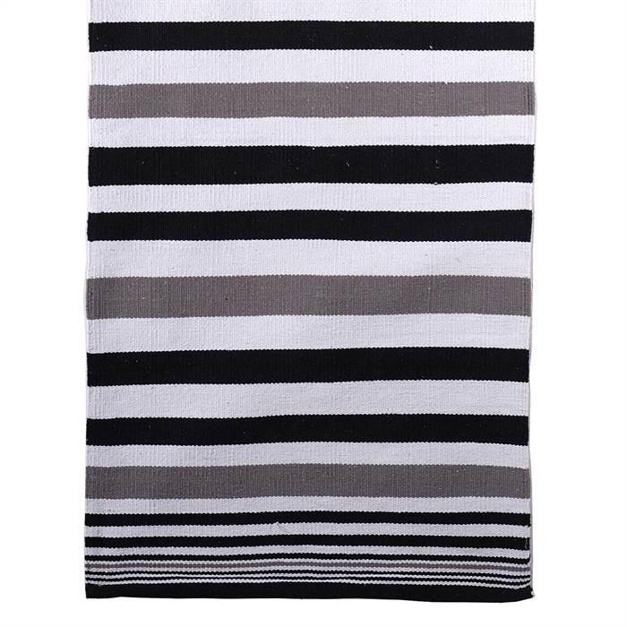 streifen teppich stripes ca 70x200 cm grau wei schwarz l ufer ebay. Black Bedroom Furniture Sets. Home Design Ideas