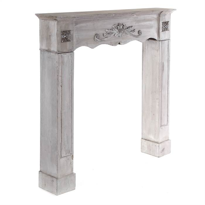 deco fire surround romantic antique grey white chimney breat ebay. Black Bedroom Furniture Sets. Home Design Ideas