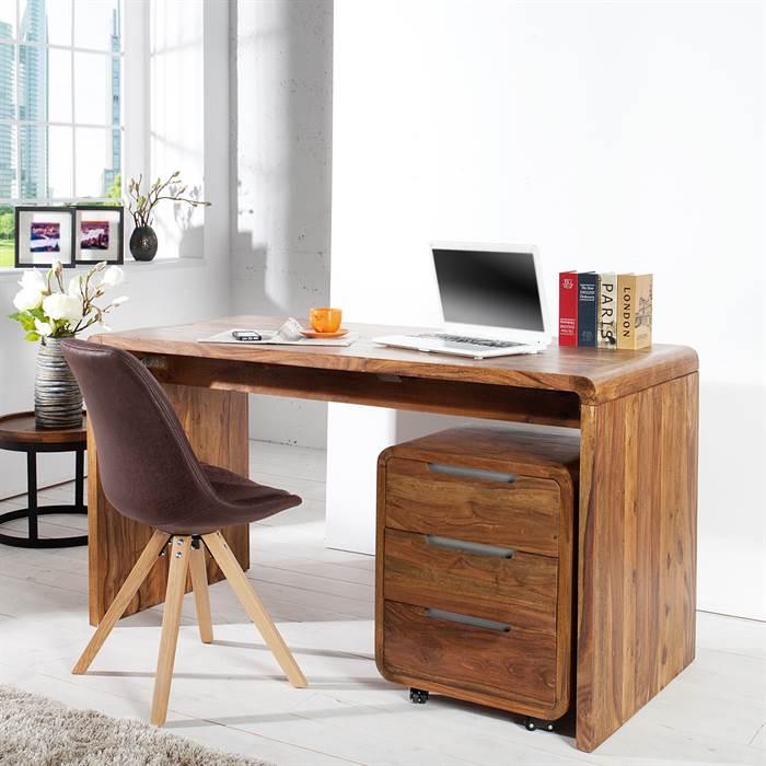 Schreibtisch g teborg sheesham massivholz 150cm for Schreibtisch x factory