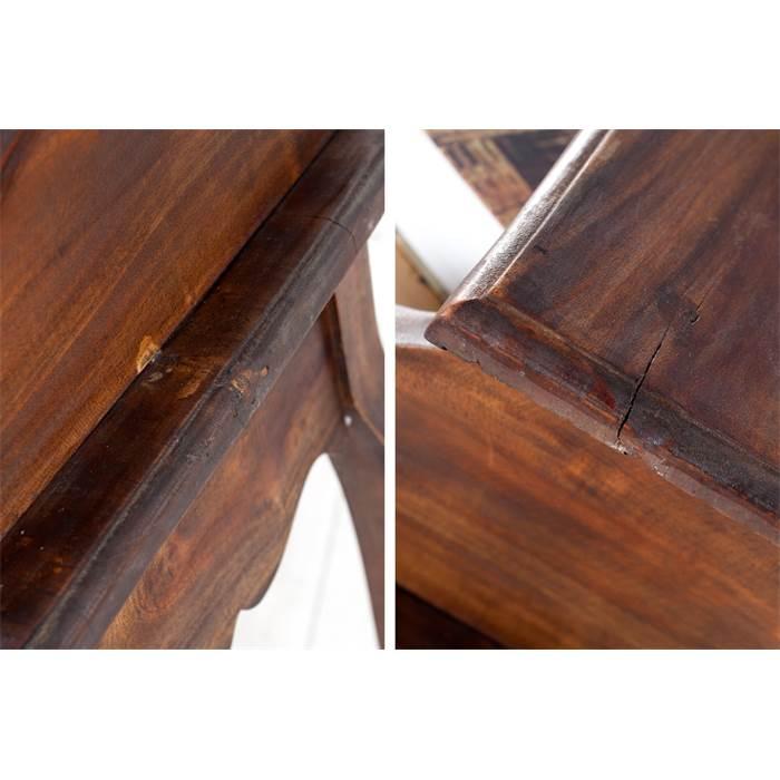 Eleganter holz sekret r napoleon braun 80 cm mahagoni for Schreibtisch x factory