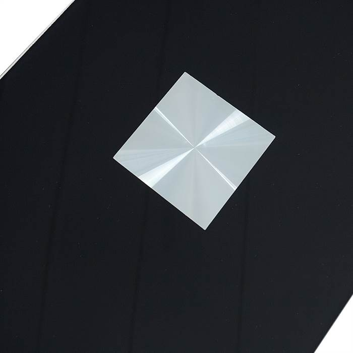 Side table james black glass 23 laptop table for Beistelltisch james