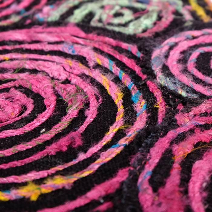 bunter sitzhocker sunset pink kare design 81064 42 cm hocker ebay. Black Bedroom Furniture Sets. Home Design Ideas