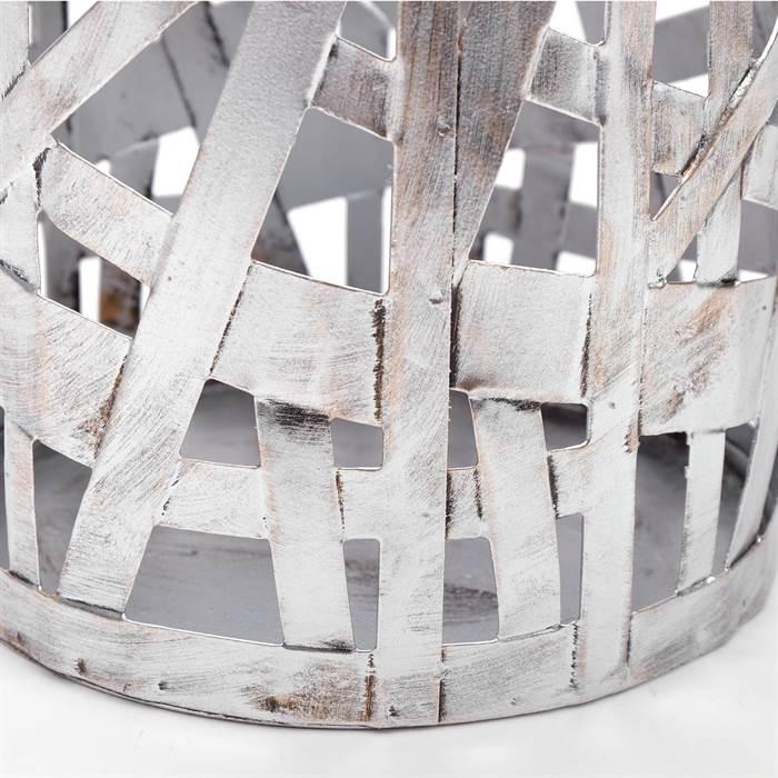 moderner schirmst nder chicago silber 50 cm metall windlicht ebay. Black Bedroom Furniture Sets. Home Design Ideas