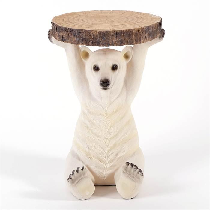 Kare beistelltisch animal polar bear mehrfarbig h53 for Kare design tisch polar