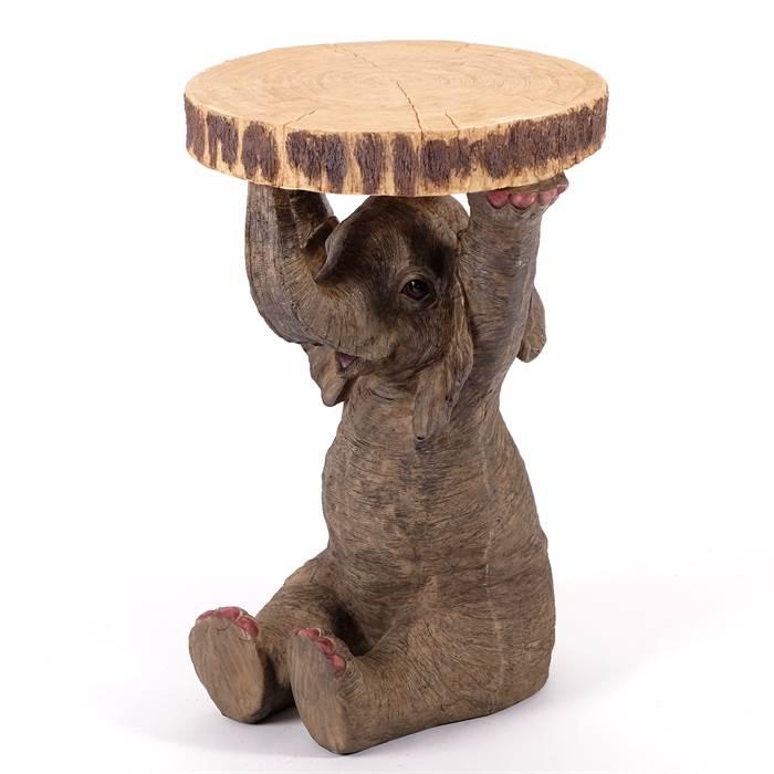 Funny Coffee Table Animal Elephant Multi 21x14x13 5 Cast Stone Kare 78893 Ebay