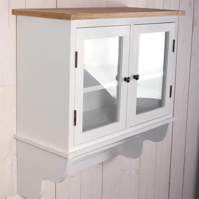 landhaus k chen schrank ida 74x71x31 cm wei shabby chic wandschrank ebay. Black Bedroom Furniture Sets. Home Design Ideas