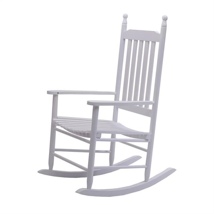 landhaus schaukelstuhl auvergne hartholz wei lackiert schwingsessel ebay. Black Bedroom Furniture Sets. Home Design Ideas