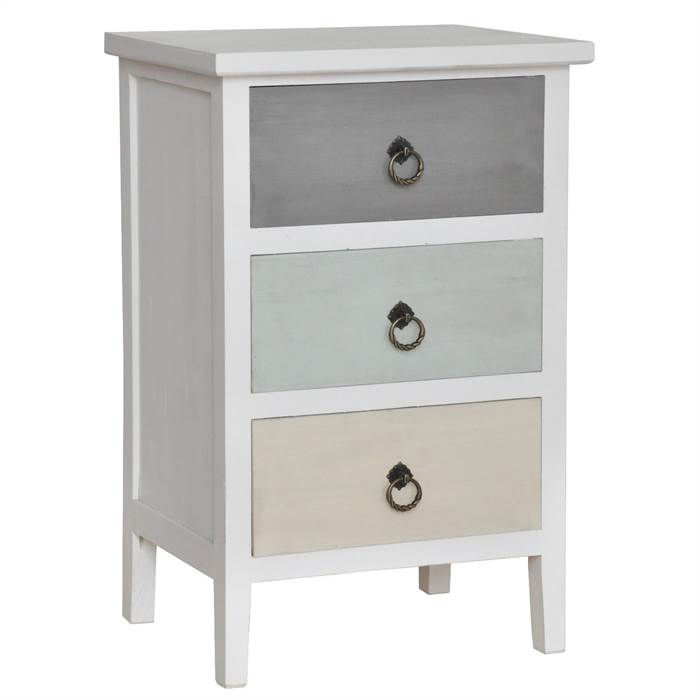 kleine kommode petronella 3 schubladen 61 cm wei pastell sideboard ebay. Black Bedroom Furniture Sets. Home Design Ideas