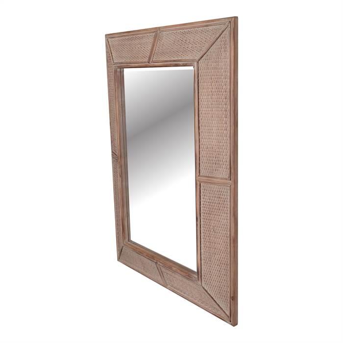 imposanter design holz spiegel kolonial 125 cm massiv. Black Bedroom Furniture Sets. Home Design Ideas