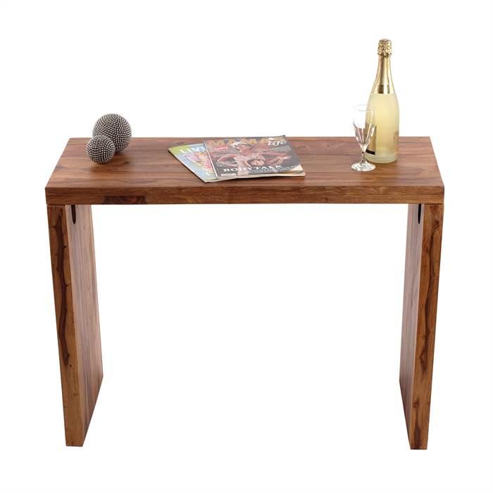 Rustikaler schreibtisch punjab sheesham 100 cm massivholz esszimmer tisch ebay - Rustikaler schreibtisch ...