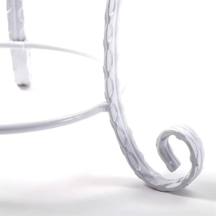 Akzent hocker elsa 56x28 cm metall gepolstert for Schminktisch metall