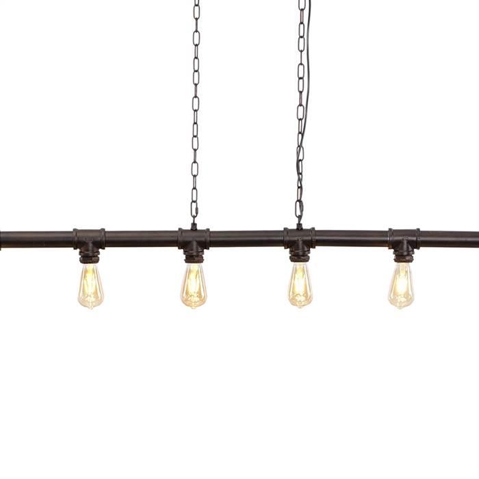 design h ngelampe brooklyn 131cm 6xe27 metall industrial h ngeleuchte ebay. Black Bedroom Furniture Sets. Home Design Ideas