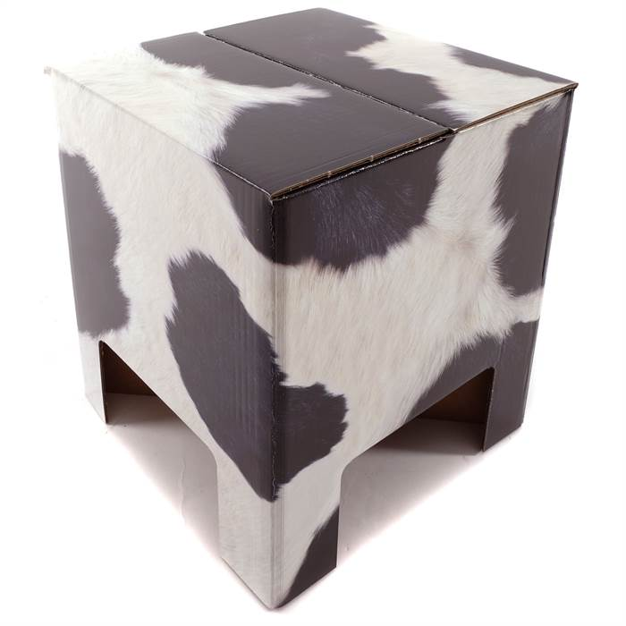 papphocker cow pappe 34x30x30 cm kuhfell. Black Bedroom Furniture Sets. Home Design Ideas