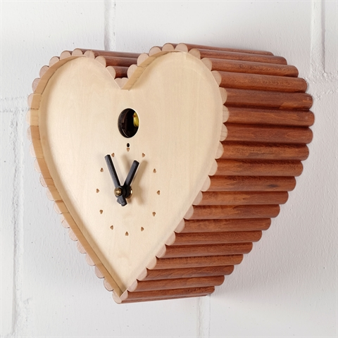 Kare Uhr kare design wall clock quot cuckoo quot 9 quot wood shape birdhouse 37725