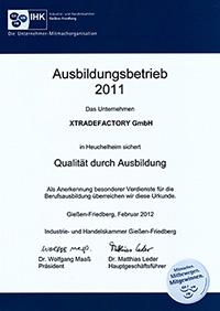 IHK Zertifikat 2011 xtradefactory.com