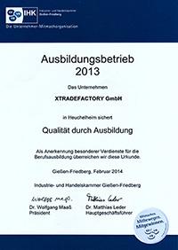 IHK Zertifikat 2013 xtradefactory.com