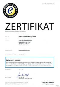 Trusted Shops Zertifikat xtradefactory.com