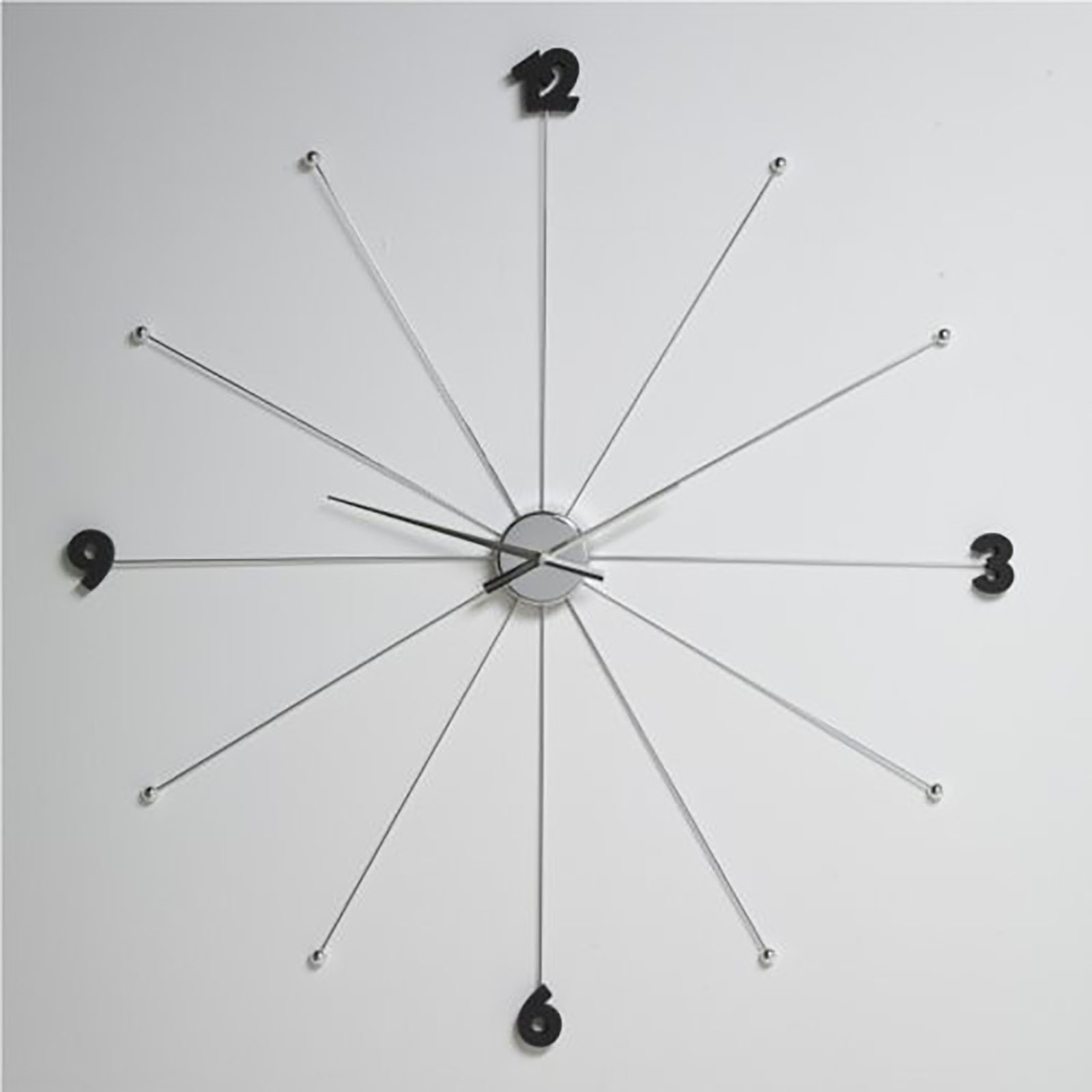 Giant Design Wall Clock O 99 Cm Kitchenclock Watch L57 Silver From
