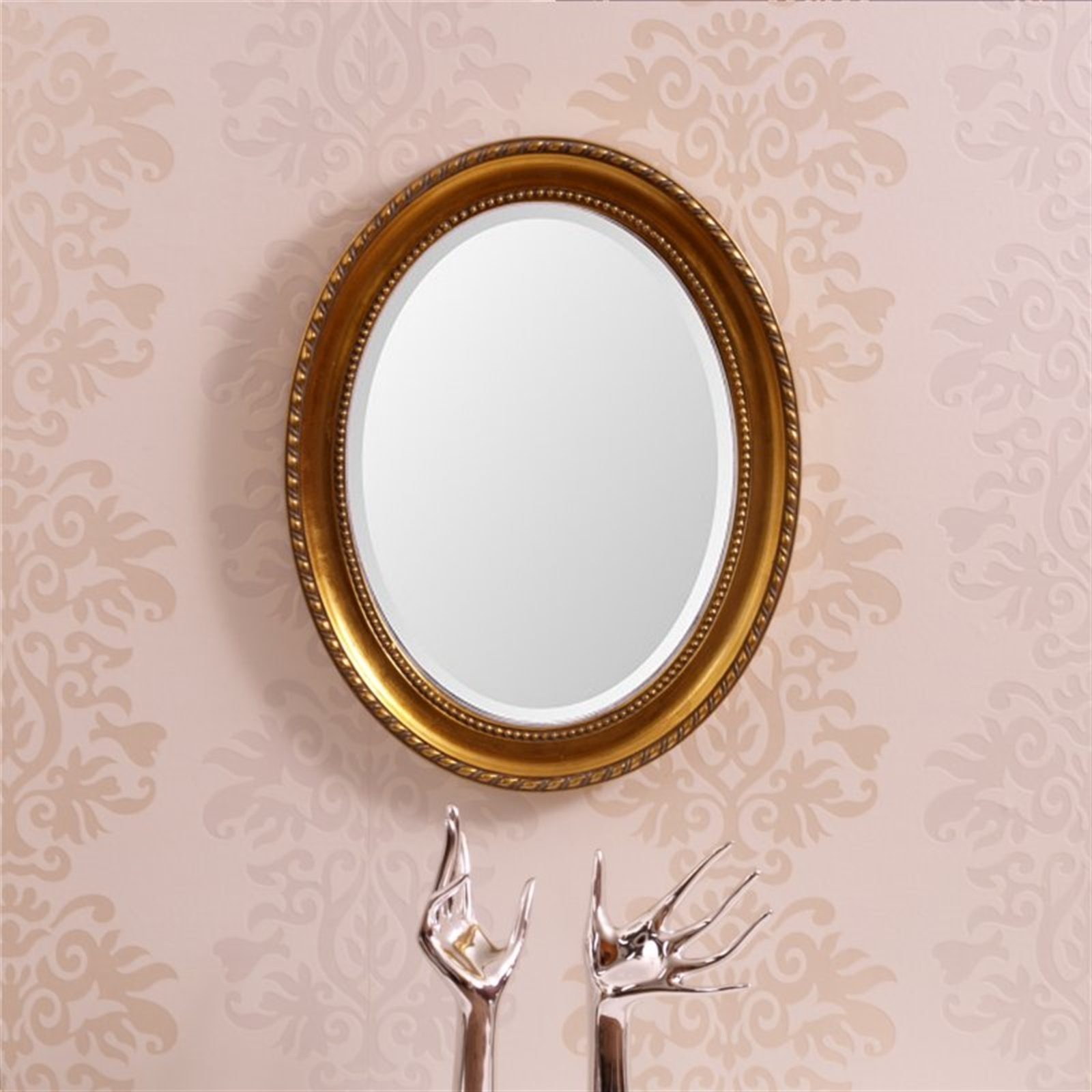 oval white mirror bathroom oval baroque wall mirror white antique design baroque 19823