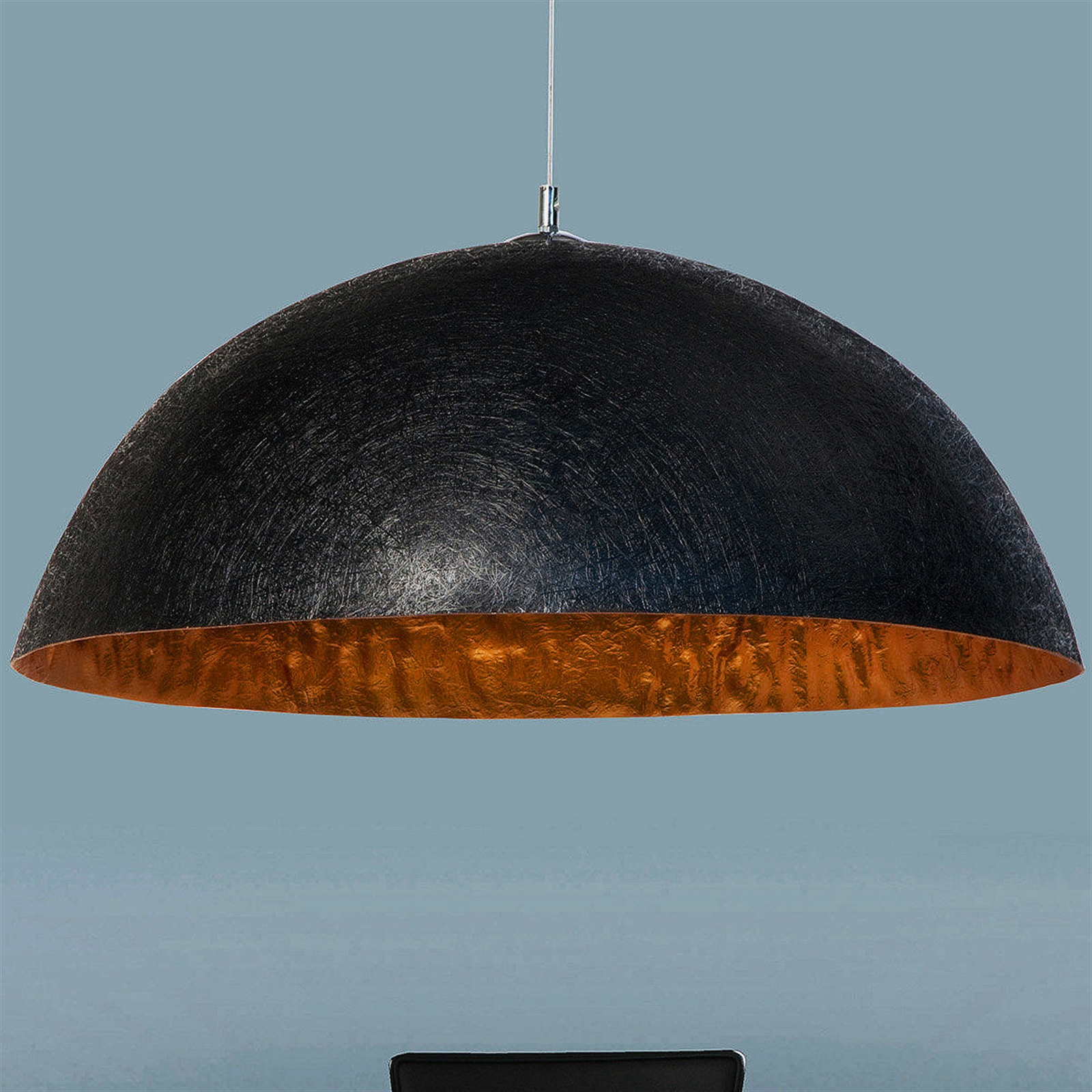 HÄNGELEUCHTE GLOW   50 cm, schwarz/gold   Hängelampe
