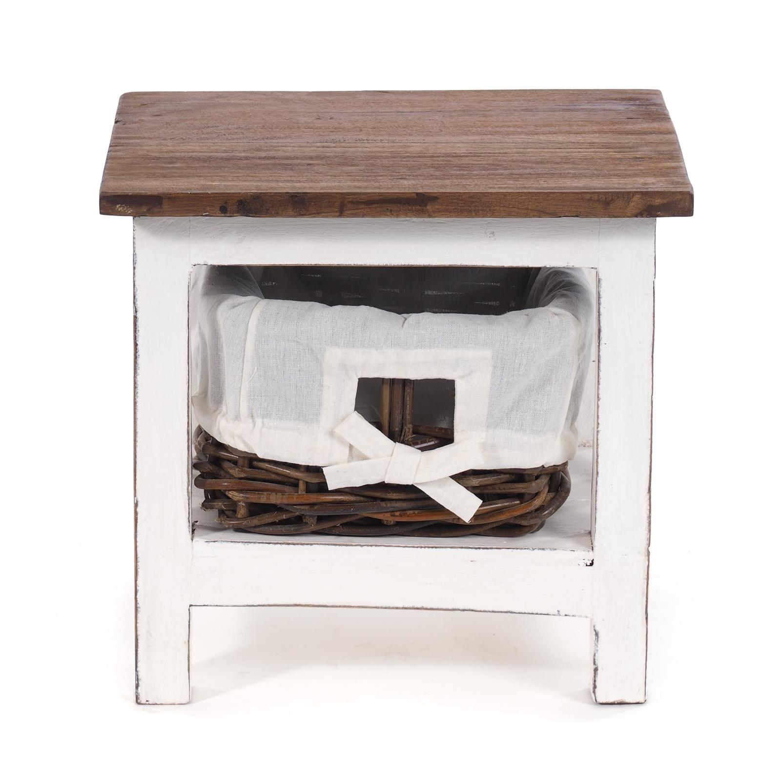 Details Sur Petite Commode Rotin Bois Recycle 40x35x30cm Lxhxp Table De Chevet Afficher Le Titre D Origine
