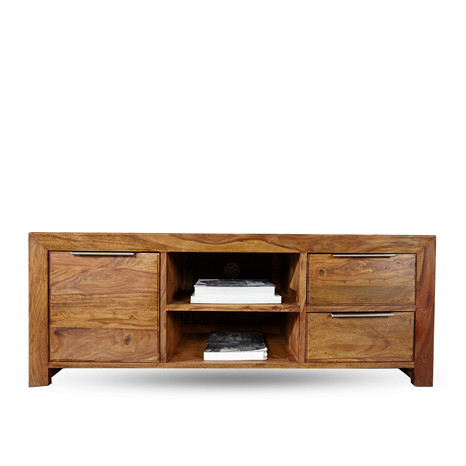 Wooden Tv Rack Borneo Sheesham 53x19 5x17 5