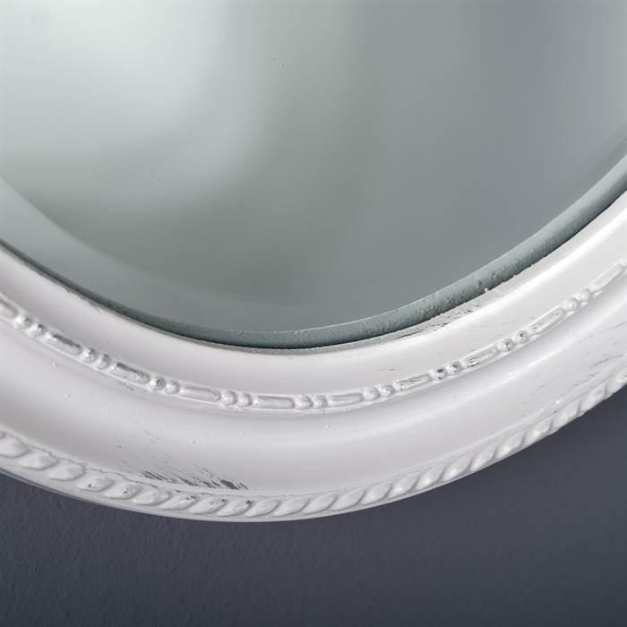 Facetten spiegel oval barock rahmen wandspiegel weiss ebay for Spiegel oval mit rahmen