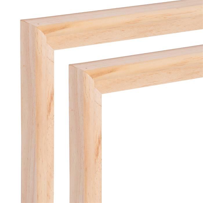2 schattenfugen leisten holz bilderrahmen f r leinw nde keilrahmen 60 x 80 cm ebay. Black Bedroom Furniture Sets. Home Design Ideas