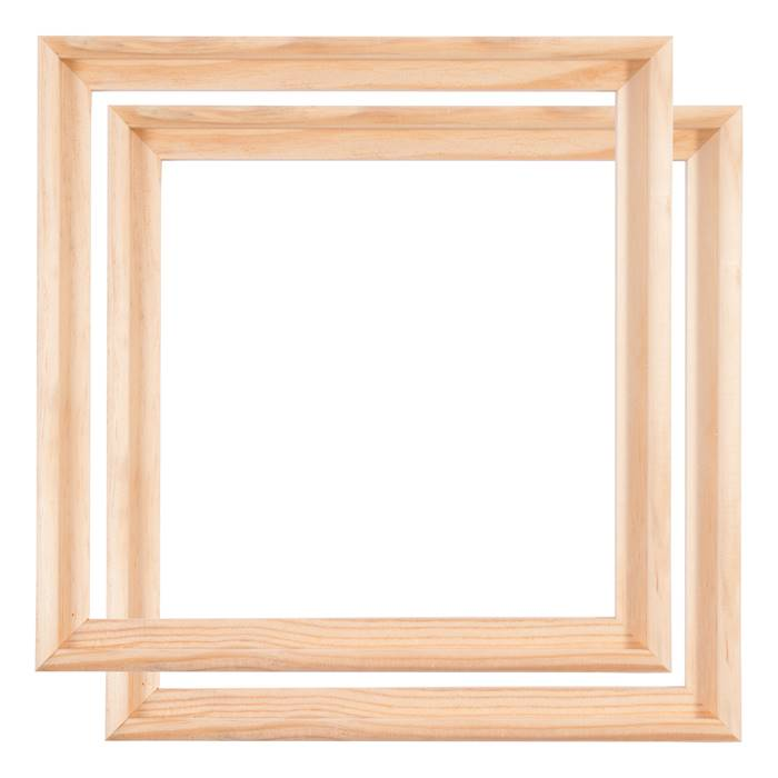 2 WOODEN CANVAS FLOATER FRAMES | 50x50cm | shadow box for stretched ...