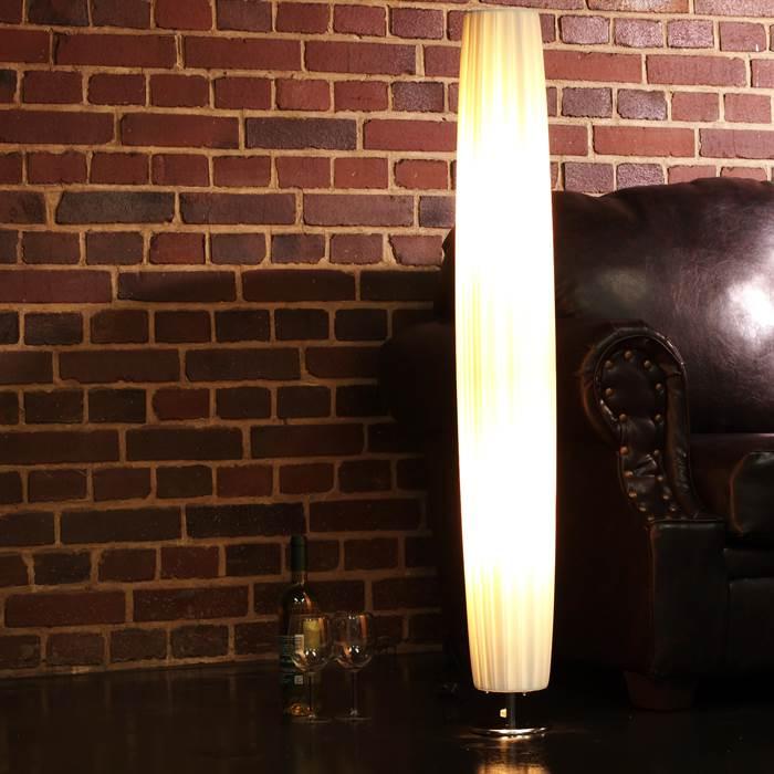 RUNDE DESIGNER STEHLEUCHTE PARIS | 120 cm, weiß | Bodenlampe ...