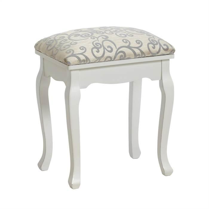 eleganter hocker barock gepolstert wei f r. Black Bedroom Furniture Sets. Home Design Ideas