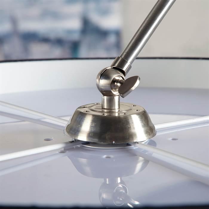 design bogen stehlampe new york schwarz stehlampe bodenlampe bogenleuchte ebay. Black Bedroom Furniture Sets. Home Design Ideas