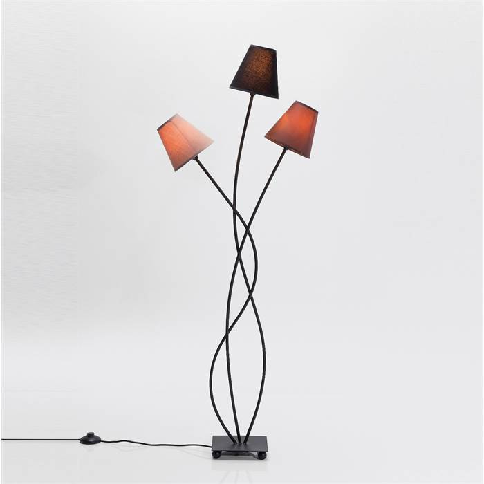 design stehlampe trio grande 3 lampenschirme 130cm stehleuchte leselampe ebay. Black Bedroom Furniture Sets. Home Design Ideas