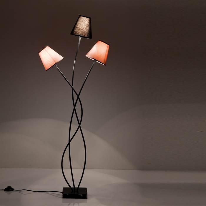 "130cmStehleuchte Leselampe DESIGN STEHLAMPE /""TRIO GRANDE/""3 Lampenschirme"