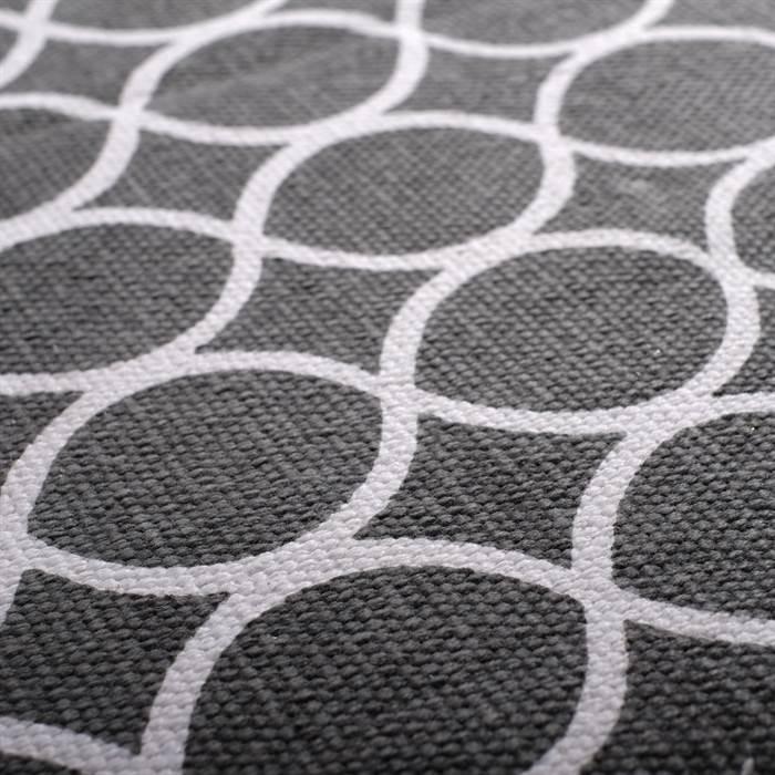 Teppich flur  RETRO FLUR LÄUFER | grau-weiß mit Kreisen, ca. 70x200 cm | Teppich ...