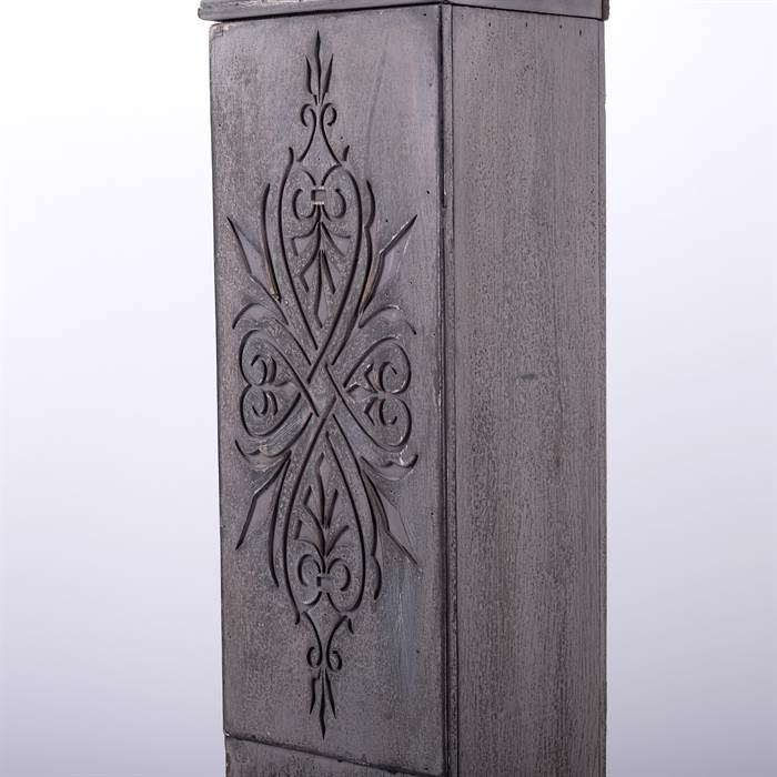 deko kaminumrandung h ttenzauber antik grau 101x113x19 cm landhausstil ebay. Black Bedroom Furniture Sets. Home Design Ideas