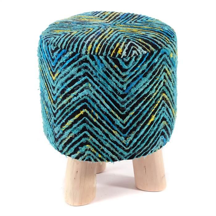 bunter sitzhocker sunset blau kare design 81065 42 cm holz hocker ebay. Black Bedroom Furniture Sets. Home Design Ideas