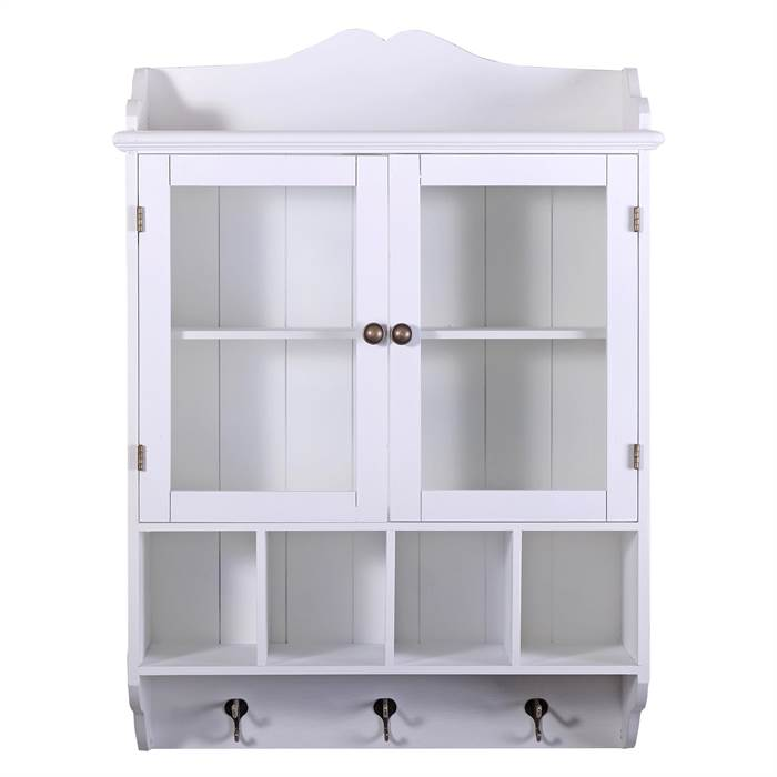 Country Style Kitchen Wall Shelf Frieda White With 3 Drawers