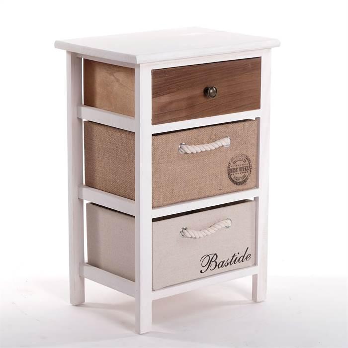 kleiner holzschrank kult 57 cm mit 3 schubladen vintage nachttisch ebay. Black Bedroom Furniture Sets. Home Design Ideas