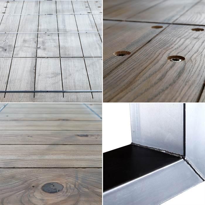 Massivholz esstisch broadway u profil stahl esche ge lt for Kuchentisch industrial