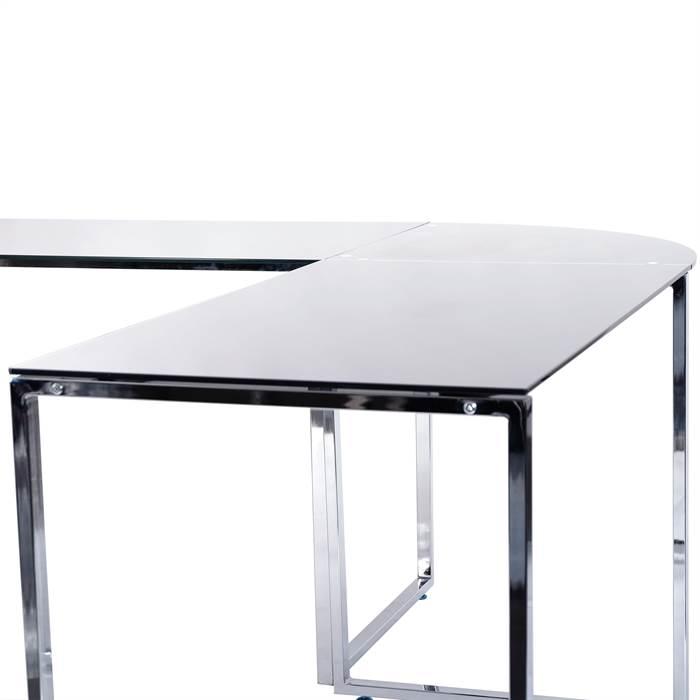 Corner Desk Metal Techni Mobili L Shape Corner Wood