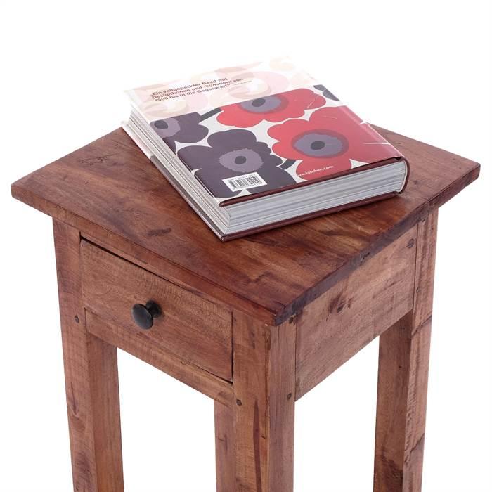 Massivholz telefontisch henry 75 cm mahagoni antik for Beistelltisch 75 cm