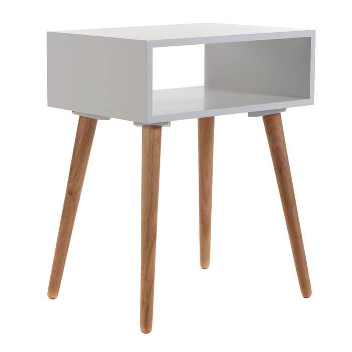 retro design beistelltisch woodstock eiche 55 cm wei natur nachttisch ebay. Black Bedroom Furniture Sets. Home Design Ideas