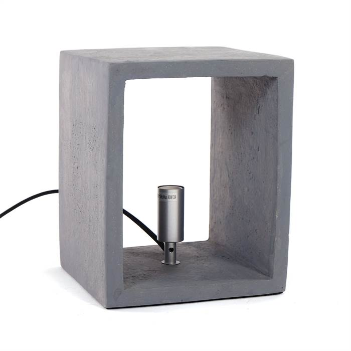 puristische tischlampe chiara 1xe14 25 cm beton. Black Bedroom Furniture Sets. Home Design Ideas