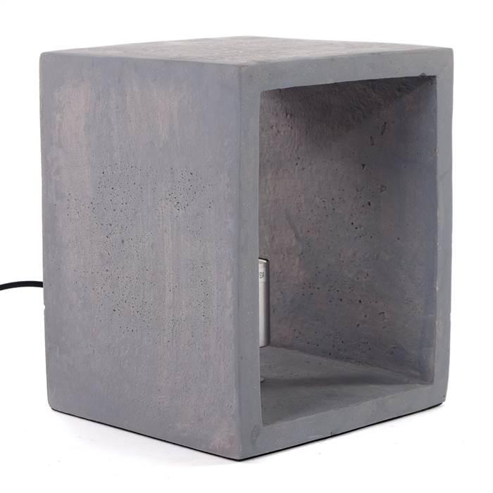 puristische tischlampe chiara 1xe14 25 cm beton grau stehleuchte ebay. Black Bedroom Furniture Sets. Home Design Ideas