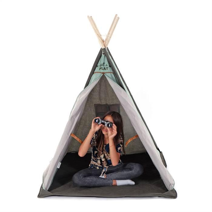kinder tipi zelt little explorer gr n 140x112 cm indianerzelt spielzelt ebay. Black Bedroom Furniture Sets. Home Design Ideas
