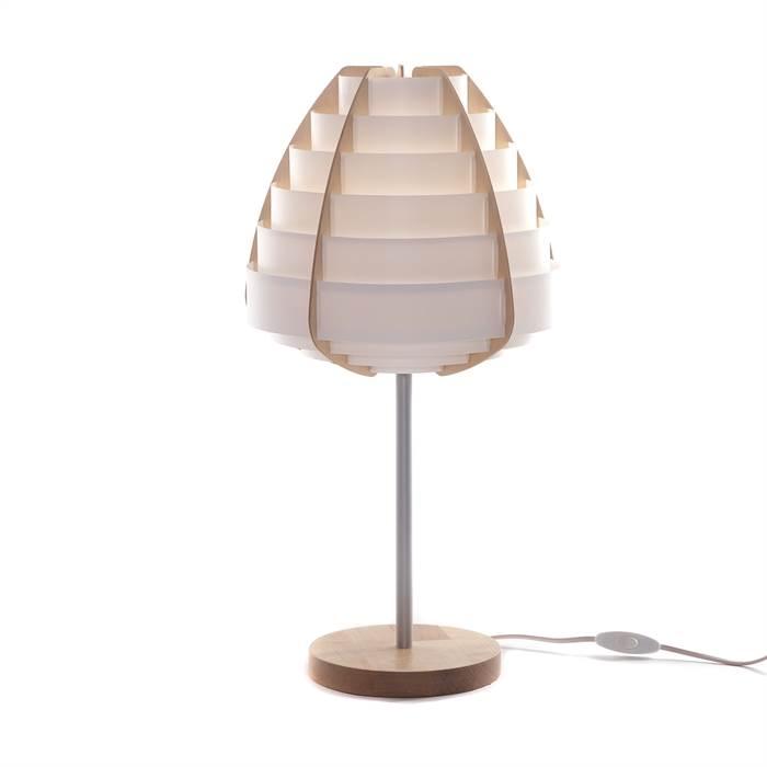 Moderne nachttischlampe nido wei 57 cm kunststoff for Moderne nachttischlampe
