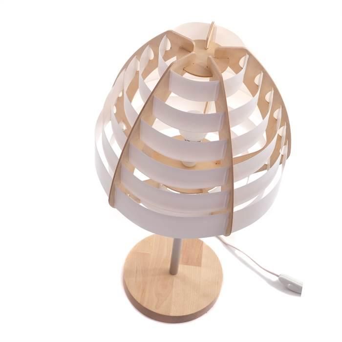 moderne nachttischlampe nido wei 57 cm kunststoff. Black Bedroom Furniture Sets. Home Design Ideas