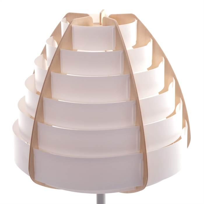 moderne nachttischlampe nido wei 57 cm kunststoff tischlampe ebay. Black Bedroom Furniture Sets. Home Design Ideas